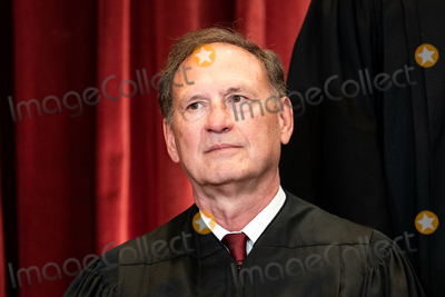 Group Photo Photo - Associate Justice of the Supreme Court Samuel A Alito Jr sits during a group photo of the Justices at the Supreme Court in Washington DC on April 23 2021 Credit Erin Schaff  Pool via CNPAdMedia