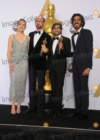 Asif Kapadia Photo - 28 February 2016 - Hollywood California - Filmmakers James Gay-Rees (2nd from L) and Asif Kapadia (2nd from R) winners of the Best Documentary Feature award for Amy pose with actress Daisy Ridley and actor Dev Patel 88th Annual Academy Awards presented by the Academy of Motion Picture Arts and Sciences held at Hollywood  Highland Center Photo Credit Byron PurvisAdMedia