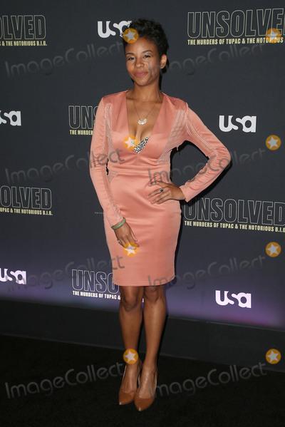 Aasha Davis Photo - 22 February 2018 - Hollywood California - Aasha Davis USA Networks Unsolved The Murders of Tupac  The Notorious BIG held at Avalon Hollywood Photo Credit F SadouAdMedia