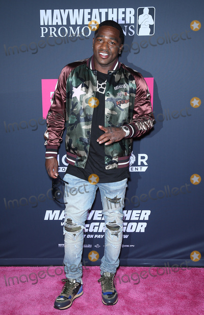 Adrien Broner Photo - 26 August 2017 - Las Vegas NV -  Adrien Broner  Mayweather vs McGregor pre-fight VIP Red Carpet at T-Mobile Arena Credit mjtAdMedia