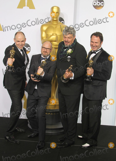 Andrew Lockley Photo - 22 February 2015 - Hollywood California - Paul Franklin Andrew Lockley Ian Hunter Scott Fisher 87th Annual Academy Awards presented by the Academy of Motion Picture Arts and Sciences held at the Dolby Theatre Photo Credit F SadouAdMedia