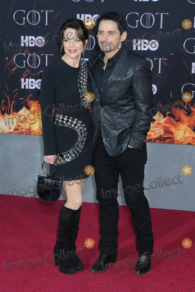 Kimberly Williams Photo - 03 April 2019 - New York New York - Kimberly Williams-Paisley and Brad Paisley at the NYC Red Carpet Premiere for final season of HBOs GAME OF THRONES at Radio City Music Hall Photo Credit LJ FotosAdMedia