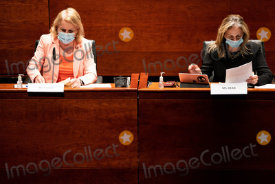 Photo - United States Representative Sylvia Garcia (Democrat of Texas) and US Representative Madeleine Dean (Democrat of Pennsylvania) looks at their notes during a US House Judiciary committee hearing on Oversight of the Department of Justice Political Interference and Threats to Prosecutorial Independence on Capitol Hill in Washington DC on June 24th 2020Credit Anna Moneymaker  Pool via CNPAdMedia