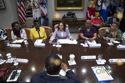 Photo - US Vice President Kamala Harris attends a roundtable meeting on voting rights