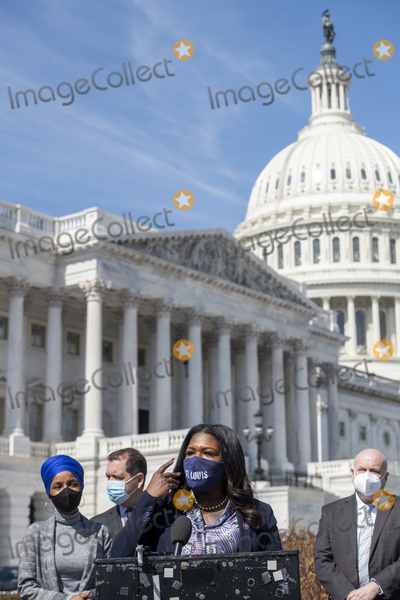 Photos From United States Representative Ilhan Omar (Democrat of Minnesota) holds a press conference press conference regarding rent and mortgage cancellation