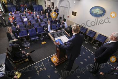 Photo - President Trump and Members of the Coronavirus Task Force hold a press briefing