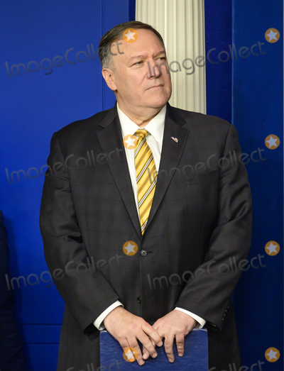 Photos From Pompeo and Mnuchuin Brief Reporters
