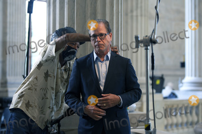 Photo - United States Senator Mike Braun (Republican of Indiana) prepares for a television interview at the United States Capitol in Washington DC US on Wednesday June 24 2020  Credit Stefani Reynolds  CNPAdMedia