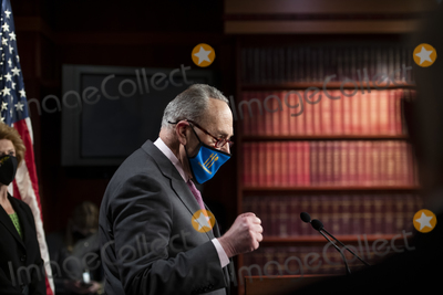 Photos From United States Senate Majority Leader Chuck Schumer (Democrat of New York) holds a weekly press conference