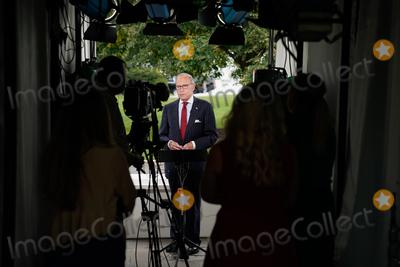 Photos From Larry Kudlow Speaks to Media