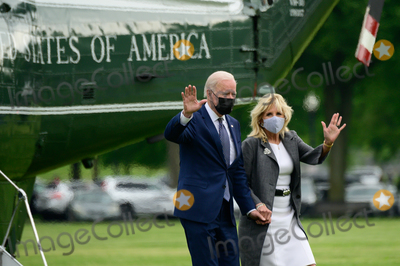 Marine One Photo - US President Joe Biden and First Lady Jill Biden arrive to the White House Ellipse on Marine One after a visit to Virginia in Washington DC US on Monday May 3 2021 Bidens 4 trillion vision of remaking the federal governments role in the US economy is now in the hands of Congress where both parties see a higher chance of at least some compromise than for the administrations pandemic-relief bill Credit Erin Scott  Pool via CNPAdMedia