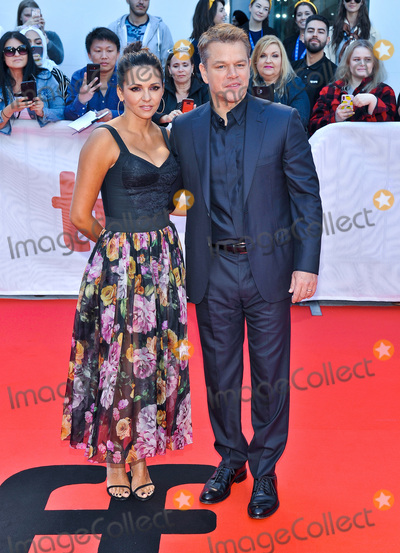 Luciana Barroso Photo - 09 September 2019 - Toronto Ontario Canada - Luciana Barroso Matt Damon 2019 Toronto International Film Festival - Ford v Ferrari Premiere held at Roy Thomson Hall Photo Credit Brent PerniacAdMedia