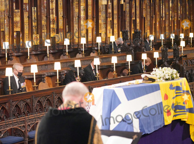 Princess Royal Photo - Photo Must Be Credited Alpha Press 073074 17042021Prince Andrew Duke of York Princess Anne Princess Royal Vice-Admiral Sir Timothy Tim Laurence Prince Harry Duke of Sussex Duke of Gloucester and Duke of Kent during the funeral of Prince Philip Duke of Edinburgh at St Georges Chapel in Windsor Castle in Windsor Berkshire No UK Rights Until 28 Days from Picture Shot Date AdMedia