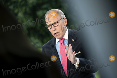Photos From Larry Kudlow Television Interview