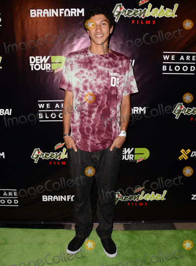 Nick Tucker Photo - 13 August 2015 - Los Angeles California - Nick Tucker Arrivals for the world premiere of Mountain Dew Green Label Films and Brain Farms We Are Blood held at The Theater at The Ace Hotel Photo Credit Birdie ThompsonAdMedia