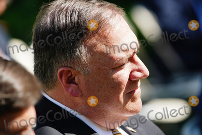 Photo - US Secretary of State Mike Pompeo listens as US President Donald J Trump and Polish President Andrzej Duda hold a joint press conference in the Rose Garden of the White House in Washington DC USA 24 June 2020 Duda a conservative nationalist facing a tight re-election race back home is the first foreign leader to visit the White House in more than three monthsCredit Jim LoScalzo  Pool via CNPAdMedia