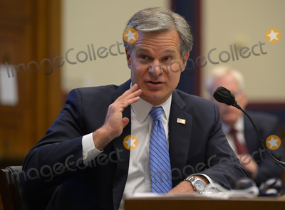 Photo - FBI Director Christopher Wray testifies at the House Committee on Homeland Security in Washington DC  on September 17 2020 Credit John McDonnell   Pool via CNPAdMedia