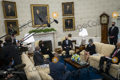 Photos From Biden Meets with Members of the Congressional Black Caucus