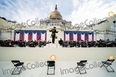 Photo - Inauguration rehearsal outside the Capitol in Washington DC on January 18 2021 Credit Erin Schaff  Pool via CNPAdMedia