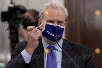 Richard Smith Photo - FedEx Express Regional President of the Americas and Executive Vice President Richard Smith removes his face mask to speak at a Senate Transportation subcommittee hybrid hearing on transporting a coronavirus vaccine on Capitol Hill Thursday Dec 10 2020 in WashingtonCredit Andrew Harnik  Pool via CNPAdMedia