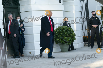 Photos From President Donald Trump Departs the White House