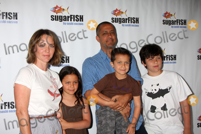 Ajay Sahgal Photo - Kelli Williams  Her Husband Ajay Sahgal Children Kiran Ram Sarame Jane and Ravi Lyndonat the Grand Opening of his new resturant Sugarfish  in Brentwood Los Angeles CA on  July 26 2009