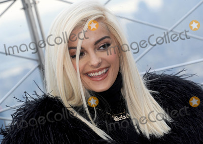 Photos From Bebe Rexha visits The Empire State Building