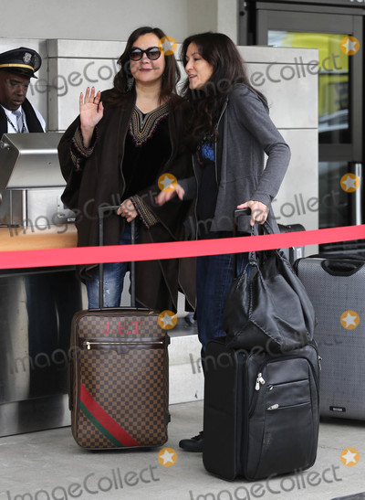 Photos From Jennifer Tilly at LAX Airport