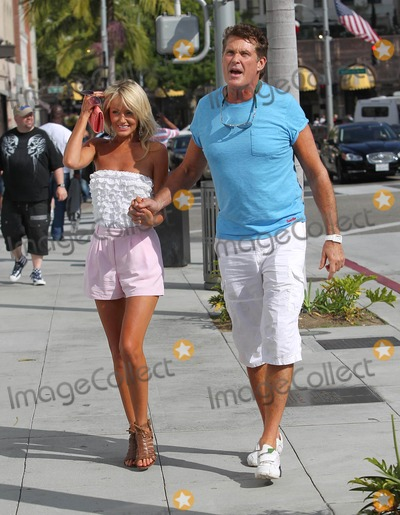 Photo - David Hasselhoff and Hayley Roberts out and about shopping on Rodeo Drive in Beverly Hills CA