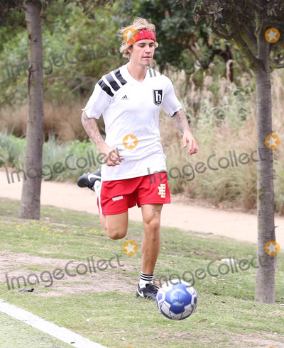 Photos From Justin Bieber plays soccer in West Los Angeles