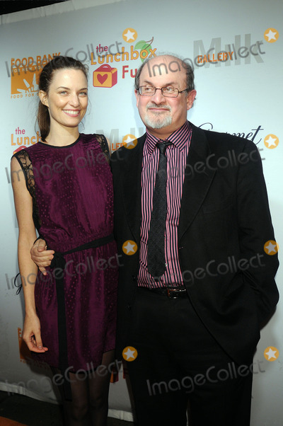 Topaz Paige-Green Photo - Salman Rushdie and Topaz Paige-Green at the Lunchbox Auction presented by Gourmet Magazine to benefit the Food Bank of New York City and The Lunchbox Fund of South Africa at Milk Studios on December 11 2008 in New York City