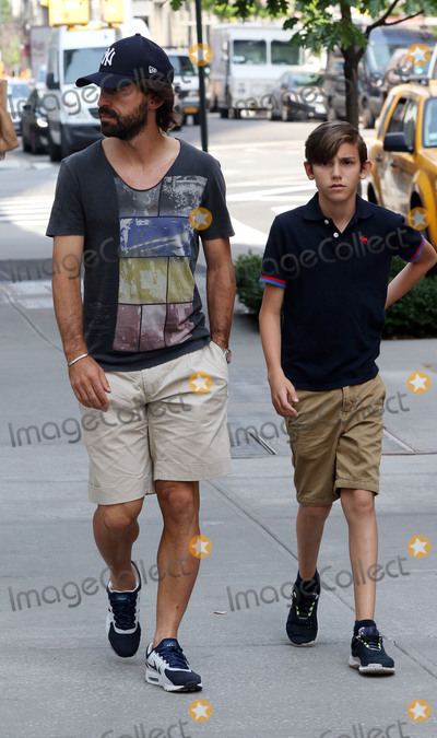 Andrea Pirlo Photo - June 23 2015 New York CityItalian professional footballer Andrea Pirlo who plays for Italian club Juventus and the Italian national team walks with his son Niccol on June 23 2015 in New York CityBy Line Zelig ShaulACE PicturesACE Pictures Inctel 646 769 0430