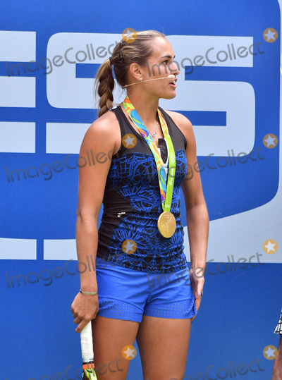 Arthur Ash Photo - August 27 2016 New York CityOlympic gold medal winner for tennis Monica Puig appeared at the 2016 Arthur Ashe Kids Day at the USTA Billie Jean King National Tennis Center on August 27 2016 in New York City By Line Curtis MeansACE PicturesACE Pictures IncTel 6467670430