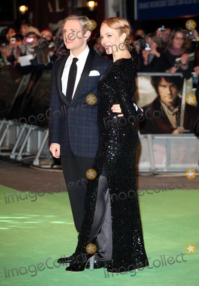 Amanda Abbington Photo - Martin Freeman and Amanda Abbington arriving for The hobbit Premiere Odeon Leicester Square London 12122012 Picture by Alexandra Glen  Featureflash
