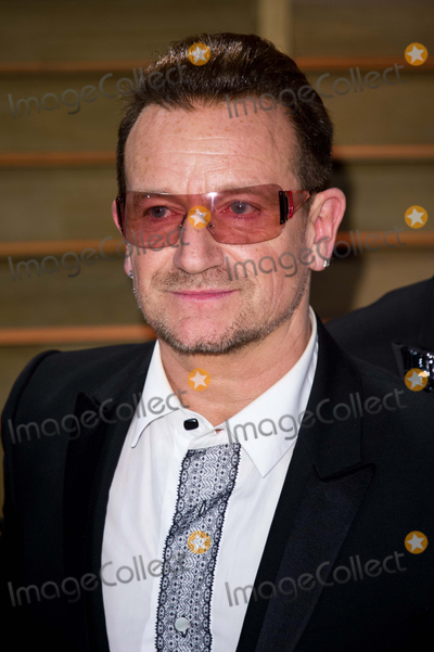 Photo - Bono arriving for the 2014 Vanity Fair Oscars Party Los Angeles 02032014 Picture by James McCauleyFeatureflash