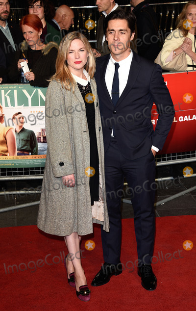 Eva Birthistle Photo - London UK Eva Birthistle and Ross J Barr  at London Film Festival Gala Premiere of Brooklyn at Odeon Leicester Square London on Monday 12 October 2015 Ref LMK392-58359-131015Vivienne VincentLandmark Media WWWLMKMEDIACOM
