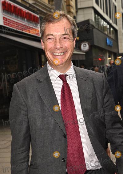 Photos From Nigel Farage leaves LBC Studio