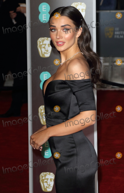 Photo - London UK  Amy Jackson at EE British Academy Film Awards 2018 - Red Carpet Arrivals at the Royal Albert Hall London on Sunday February 18th 2018 Ref LMK73 -J1591-190218Keith MayhewLandmark Media WWWLMKMEDIACOM