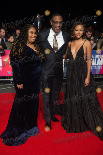 Angie Thomas Photo - London UK  (L-R) - Author Angie Thomas Director George Tillman Jr and Amandla Stenberg   at  the Special Presentation and European Premiere of The Hate U Give  at The 62nd BFI London Film Festival at Cineworld Leicester Square London England UK on Saturday 20 October 2018 Ref  LMK370-S1696-211018Justin NgLandmark MediaWWWLMKMEDIACOM