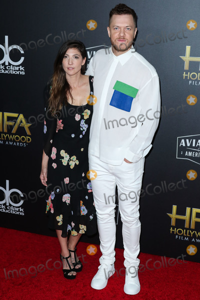 Photo - BEVERLY HILLS LOS ANGELES CA USA - NOVEMBER 04 Aja Volkman Dan Reynolds at the 22nd Annual Hollywood Film Awards held at The Beverly Hilton Hotel on November 4 2018 in Beverly Hills Los Angeles California United States (Photo by Xavier CollinImage Press Agency)