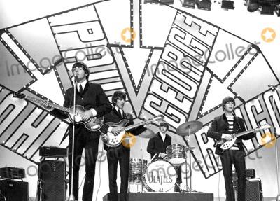 Photo - The Beatles Appear on Blackpool Night Out Show 07-19-1964 Photo by Globe Photos Paul Mccartney George Harrison Ringo Starr John Lennon