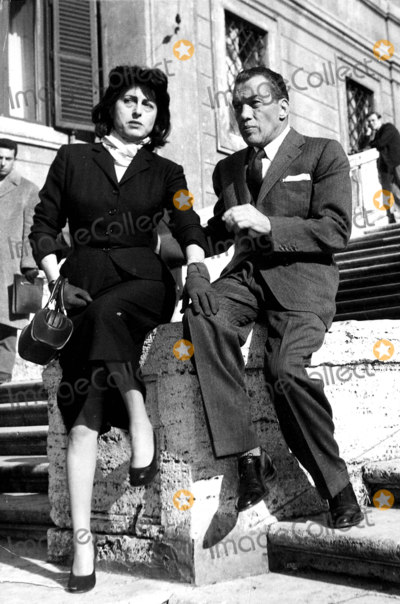 Anna Magnani Photo - Ed Sullivan and Anna Magnani Photo Globe Photos Inc