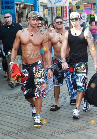 Photos From August 11, 2010: Pauly D, Vinny, Ronnie and Sammi head to the beach as they film scenes for season 3 of the 'Jersey Shore' in Seaside Heights, New Jersey.