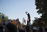 Vice President Joe Biden Photo - A man sits atop a traffic light on H Street NW as people celebrate in the streets near the White House in the hours after Democratic presidential candidate and former Vice President Joe Biden was elected president in Washington DC Saturday November 7 2020 Credit Rod Lamkey  CNPAdMedia