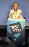 Theresa May Photo - 11 June 2019 - Prime Minister Theresa May talks at London Tech Week In London Photo Credit ALPRAdMedia