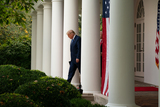 The White Photo - United States President Donald J Trump gives an update on the Nations Coronavirus Testing Strategy in the Rose Garden of the White House September 28 2020 in Washington DC  Credit Ken Cedeno  Pool via CNPAdMedia