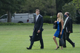 Alex Azar Photo - From left Jared Kushner Assistant to the President and Senior Advisor White House Press Secretary Kayleigh McEnany and United States Secretary of Health and Human Services (HHS) Alex Azar walk across the South Lawn of the White House in Washington DC as they prepare to accompany US President Donald J Trump on a visit to the Bioproces Innovation Center at Fujifilm Diosynth Biotechnologies in Morrisville North Carolina on July 27 2020Credit Chris Kleponis  Pool via CNPAdMedia