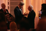 Jimmy Carter Photo - United States Secretary of State John Kerry (L) talks with former President Jimmy Carter during a dinner on the occasion of the US-Africa Leaders Summit on the South Lawn of the White House August 5 2014 in Washington DC President Barack Obama is promoting business relationships between the United States and African countries during the three-day US-Africa Leaders Summit where 49 heads of state are meeting in Washington Credit Chip Somodevilla  Pool via CNPAdMedia
