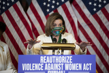 Nancy Pelosi Photo - Speaker of the United States House of Representatives Nancy Pelosi (Democrat of California) offers remarks at a press conference regarding the Violence Against Women Act at the US Capitol in Washington DC Wednesday March 17 2021 Credit Rod Lamkey  CNPAdMedia