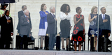 Oprah Winfrey Photo - From left to right United States Representative John Lewis (Democrat of Georgia) Ambassador Andrew Young former US President Jimmy Carter Lynda Bird Johnson Robb former US President Bill Clinton Oprah Winfrey first lady Michelle Obama Ambassador Caroline Kennedy and United States President Barack Obama listen to the National Anthem at the Let Freedom Ring ceremony on the steps of the Lincoln Memorial to commemorate the 50th Anniversary of the March on Washington for Jobs and FreedomCredit Ron Sachs  CNPAdMedia